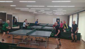 Настольный теннис для пенсионеров